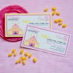 Vintage Carnival Circus Birthday Party Printable Invitation - Pink Yellow